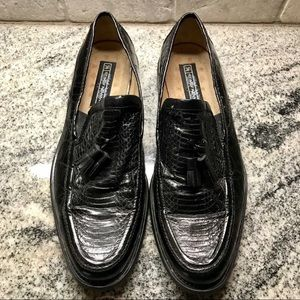 Stacy Adams Genuine Snake Skin Loafers, Size 10M